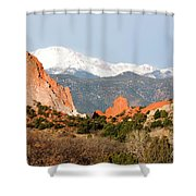 Garden Of The Gods And Pikes Peak Shower Curtain