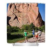 Garden Of The Gods Ten Mile Run In Colorado Springs Shower Curtain