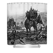 Hannibal (247-183 B.c.) Shower Curtain