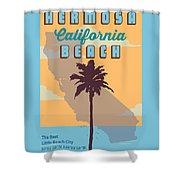 Hermosa Beach. Shower Curtain