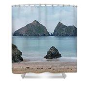 Holywell Bay - Cornwall Shower Curtain