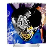 Joe Bonamassa Blues Guitarist Art Shower Curtain