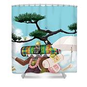 Katamari Damacy Shower Curtain