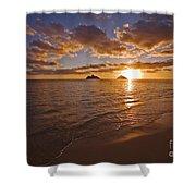 Lanikai Sunrise Shower Curtain