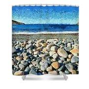 Livada Beach  Shower Curtain