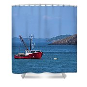 Lubec ,maine  Shower Curtain
