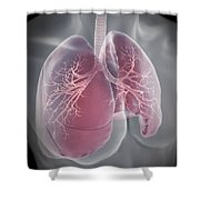 Lungs Shower Curtain