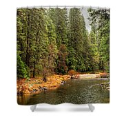 Merced River Yosemite Valley Shower Curtain