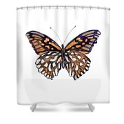 9 Mexican Silver Spot Butterfly Shower Curtain