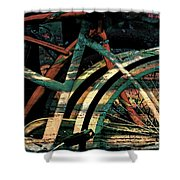 9 Million Bicycles  Shower Curtain