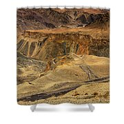 Moonland Ladakh Jammu And Kashmir India Shower Curtain