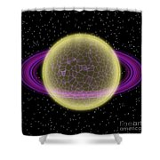 Network Planet Shower Curtain