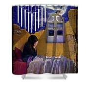 9 Of Swords Shower Curtain