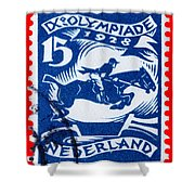 Old Dutch Postage Stamp Shower Curtain