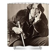 Oscar Wilde (1854-1900) Shower Curtain by Granger