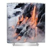 Pahoehoe Lava Flow Shower Curtain