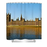 Palace Of Westminster, Houses Of Parliament, And Big Ben Shower Curtain