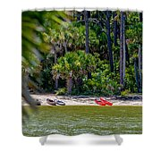 Palmetto Forest On Hunting Island Beach Shower Curtain