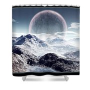 Planet Rise Shower Curtain
