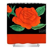 Red Rose, Painting Shower Curtain