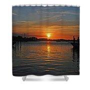 9- Sailfish Marina Shower Curtain