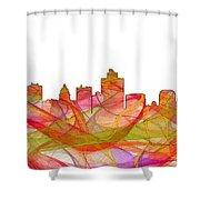 Salt Lake City Utah Skyline Shower Curtain