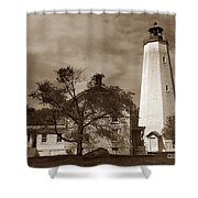 Sandy Hook Lighthouse Nj  Shower Curtain