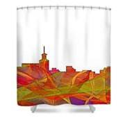 Santa Fe New Mexico Skyline Shower Curtain