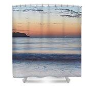 Soft Sunrise Seascape Shower Curtain