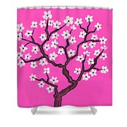 Spring Tree In Blossom, Painting Shower Curtain
