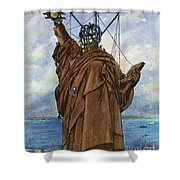 Statue Of Liberty 1886 Shower Curtain