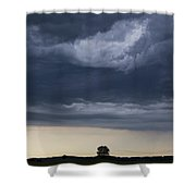 Storm Clouds Prairie Sky Shower Curtain