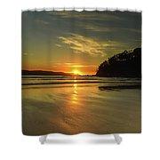 Sunrise Seascape From The Beach Shower Curtain