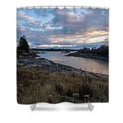 Sunset Down East Maine Shower Curtain