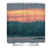 Sunset Over Alaska Fjords On A Cruise Trip Near Ketchikan Shower Curtain