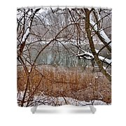 The Bass River In Winter Shower Curtain