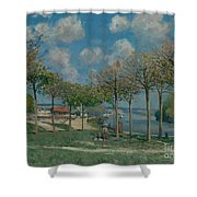 The Seine At Bougival Shower Curtain
