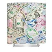 Travel Money - World Economy Shower Curtain
