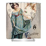 Valentines Day Card Shower Curtain