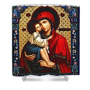Virgin And Child Icon Religious Art Shower Curtain