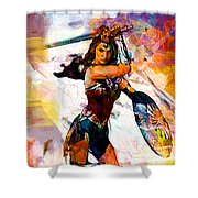 Wonder Woman Shower Curtain