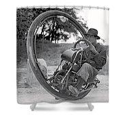 90 M P H Monocycle - 1933 Shower Curtain