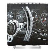 911 Porsche Dash Shower Curtain