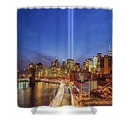911 Tribute In Light In Nyc II Shower Curtain