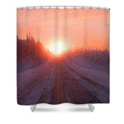 Landscape Oil Painting Shower Curtain