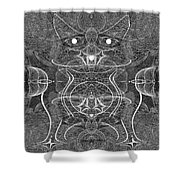 991 Feline  Creature Shower Curtain