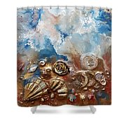 #997 A Rose Shower Curtain