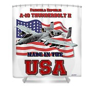 A-10 Thunderbolt Made In The Usa Shower Curtain