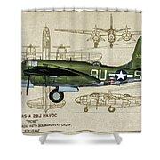 A-20 Havoc - Irene Shower Curtain