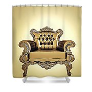 A A G - Antiquearmchairgold Shower Curtain